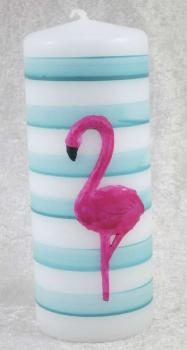 Kerze, Stumpenkerze Flamingo 1, Safe Candle
