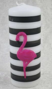 Kerze, Stumpenkerze Flamingo 2, Safe Candle