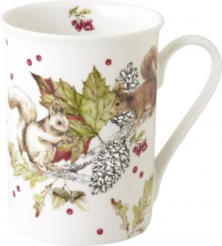SQUIRRELS AND BERRIES, Bone China Becher, IHR Ideal Home
