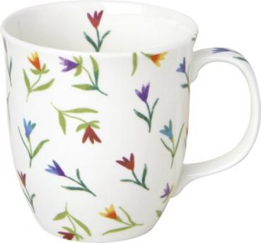COLOURFUL FLOWERS, Bone China Country Becher, IHR Ideal Home Range