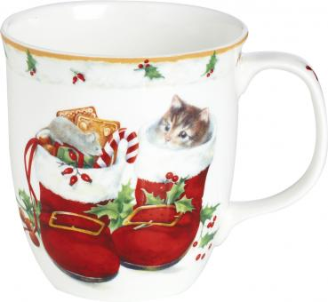 Sweet Christmas Boots, Bone China Country Becher, IHR Ideal Home