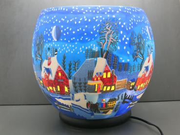 Lampe, Leuchtglas elektrisch, LED, Winternight in Canada, XXL821