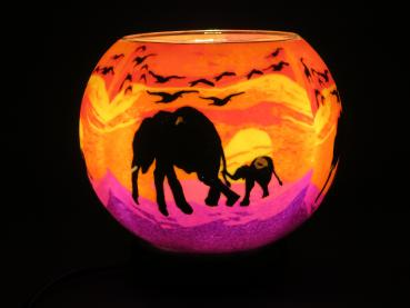 Lampe, Leuchtglas elektr., LED, X Large, Elephant with Baby  - EEK: A+ (Spektrum: A++ bis E)