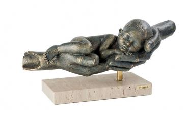 Angeles Anglada Skulptur My first lullaby, Mein erstes Wiegenlied, Limited Edition