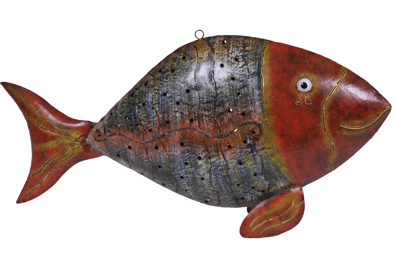 fisch l farbe orange gelb l 228 nge 84 cm metallfigur 1515 medusa geschenke kunst und wohnideen