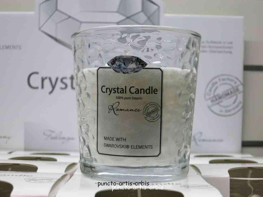 Duftkerze Crystal Candle, Duft Romance, Candle Factory