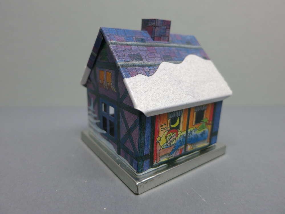r ucherhaus adventshaus weihnachtsmann blau knox. Black Bedroom Furniture Sets. Home Design Ideas