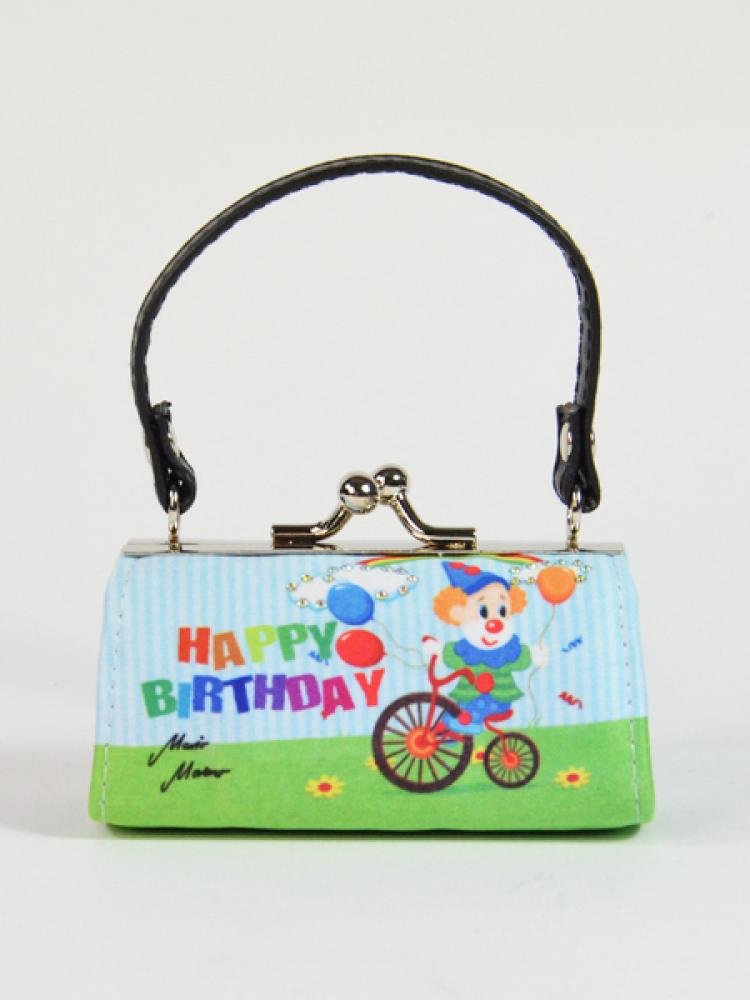 MiniBag Happy Birthday, Clown auf Fahrrad, 13446