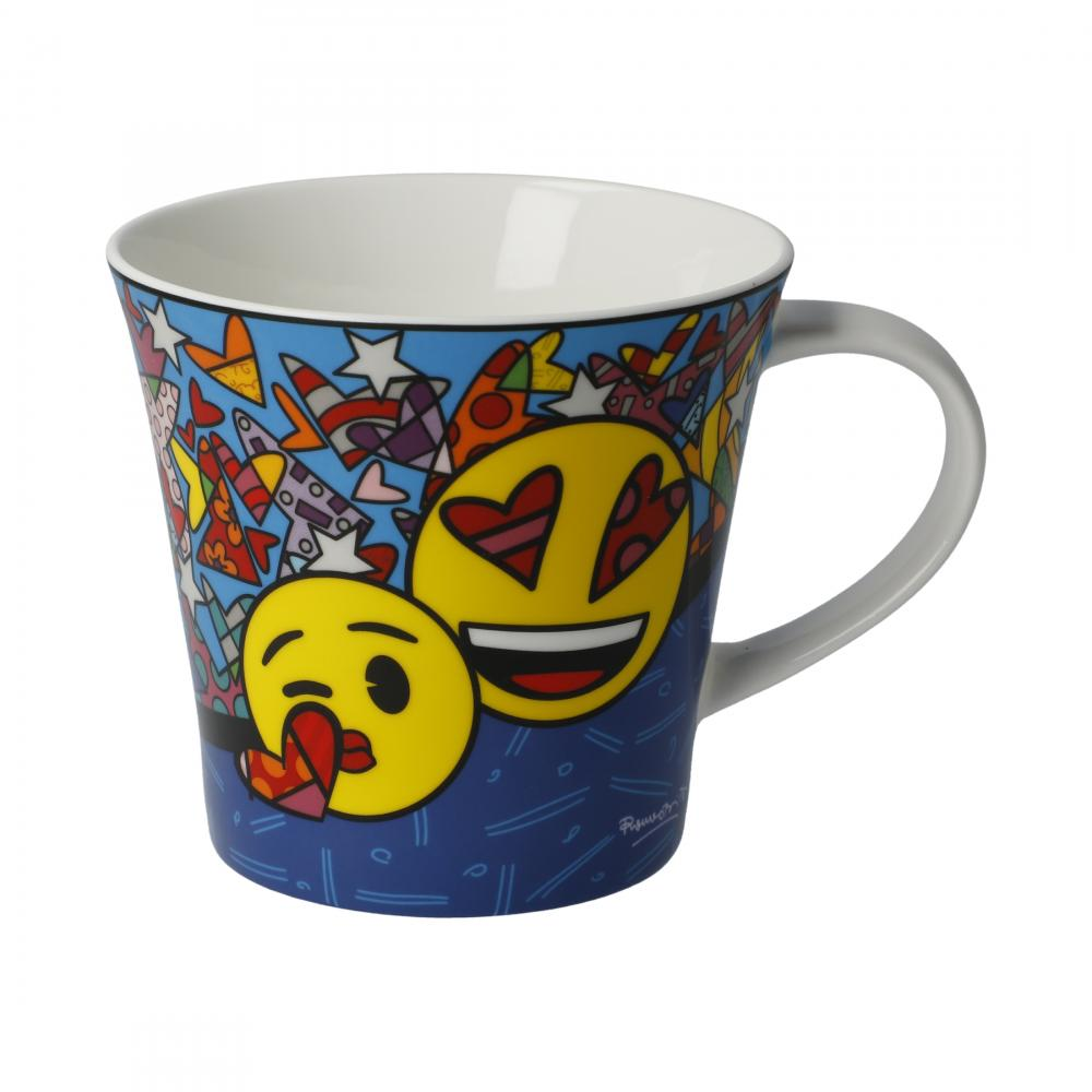 Tasse, Kaffeetasse  I love You mit Smileys von emoji® BY BRITTO®!