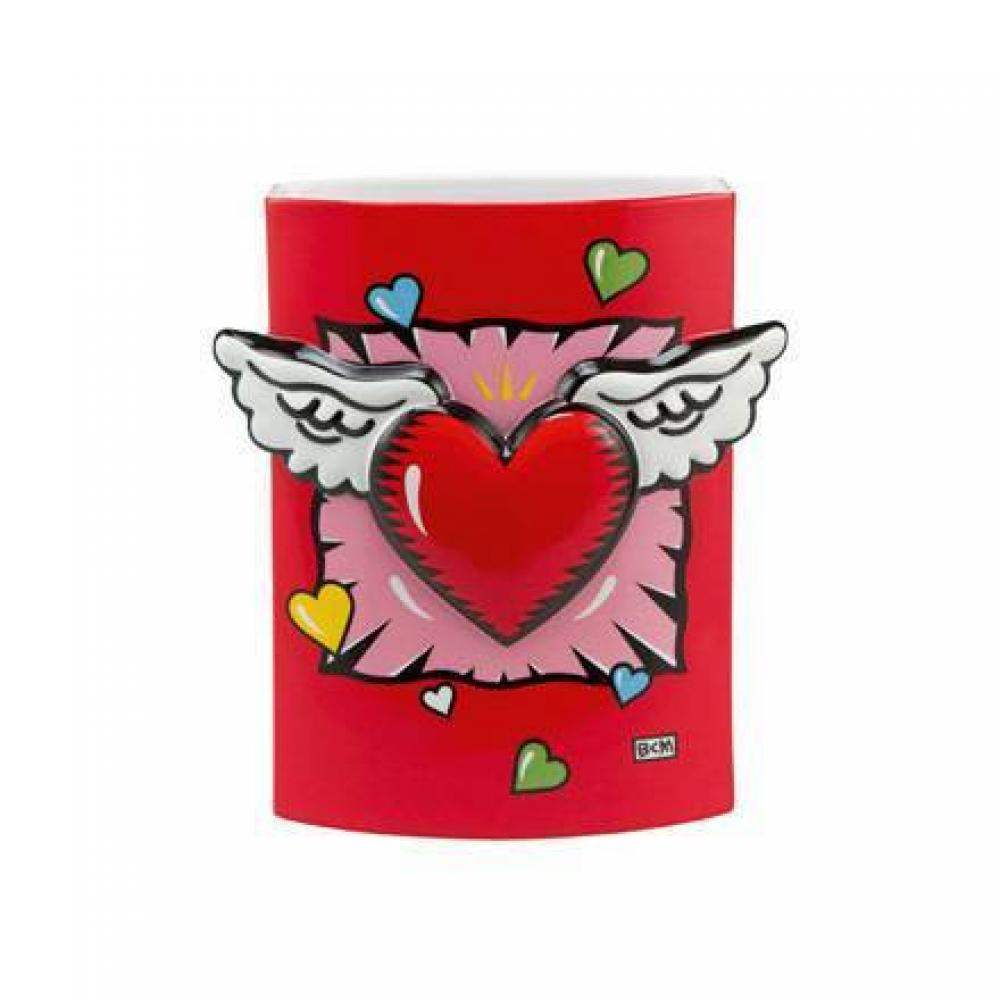 Vase Wings of Love, Burton Morris