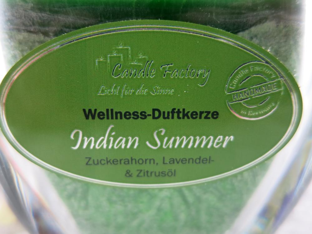 Indian Summer, Wellness Duftkerze, Candle Factory
